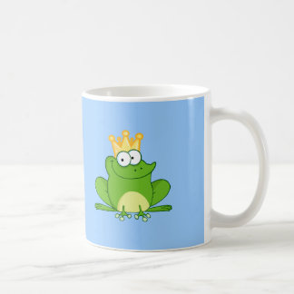 King Frog Frogs Crown Green Cute Cartoon Animal Coffee Mug