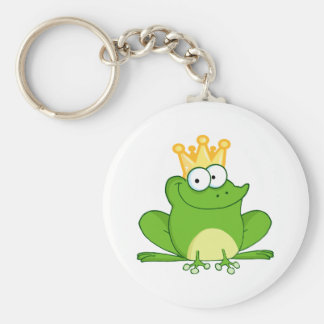 King Frog Frogs Crown Green Cute Cartoon Animal Keychain