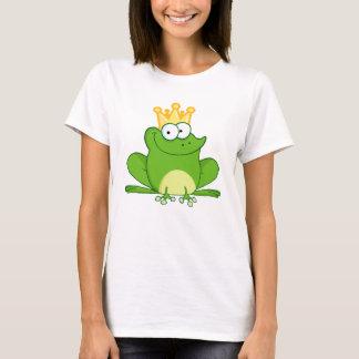 King Frog Frogs Crown Green Cute Cartoon Animal T-Shirt