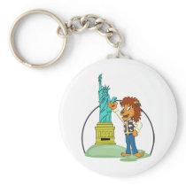 King George I Love New York Keychain