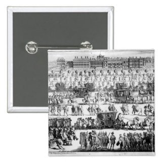 King George I procession to St. James's Palace 2 Inch Square Button