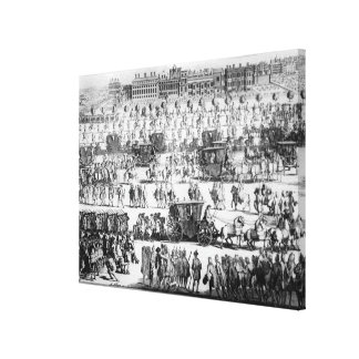 King George I procession to St. James's Palace Canvas Print