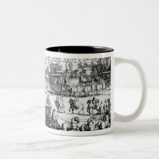 King George I procession to St. James's Palace Two-Tone Coffee Mug