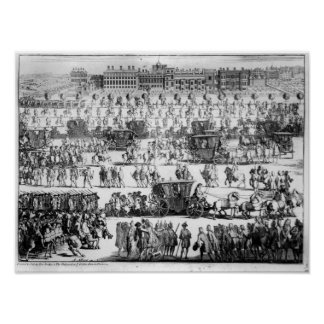 King George I procession to St. James's Palace Poster