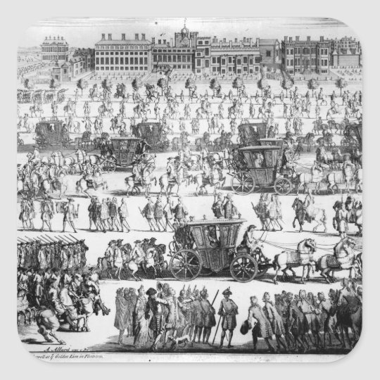 King George I procession to St. James's Palace Square Sticker