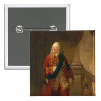 King George II, 1759 2 Inch Square Button
