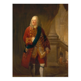 King George II, 1759 Postcard