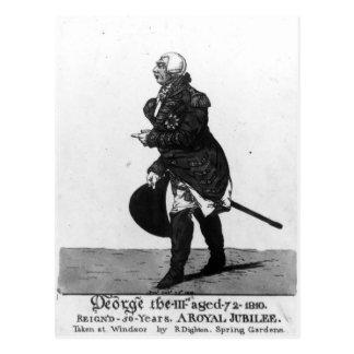 King George III, aged 72, 1810 Postcard