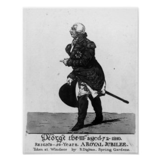 King George III, aged 72, 1810 Poster