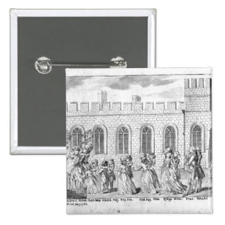 King George III and Queen Charlotte 2 Inch Square Button