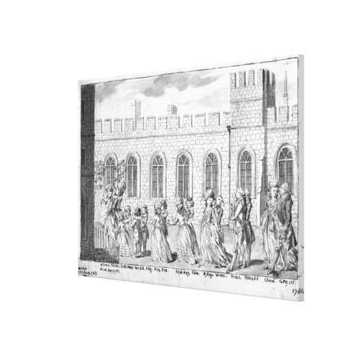 King George III and Queen Charlotte Stretched Canvas Print