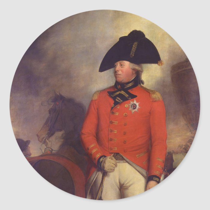 King George III by Sir William Beechey Classic Round Sticker