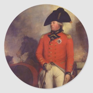 King George III in 1799 by Sir William Beechey Classic Round Sticker