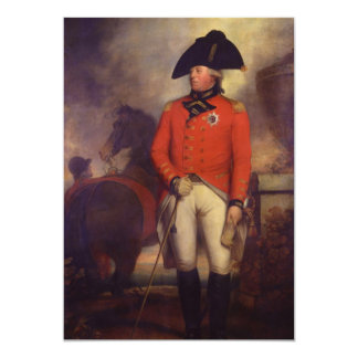 King George III in 1799 by Sir William Beechey 5x7 Paper Invitation Card