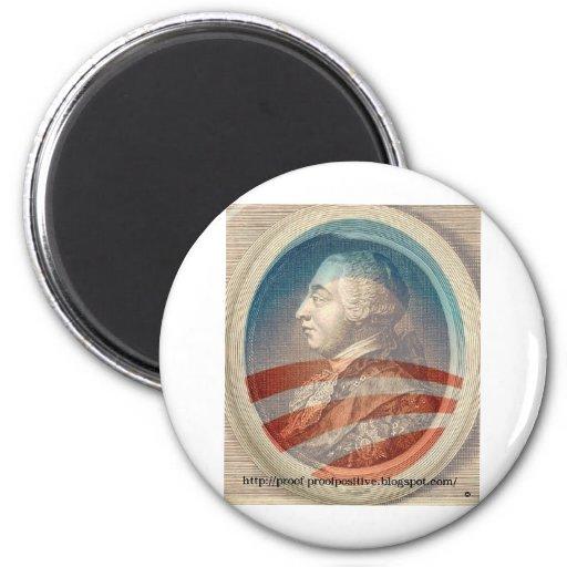 King George Obama III 2 Inch Round Magnet