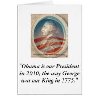 King George Obama III Card