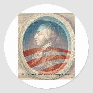 King George Obama III Classic Round Sticker