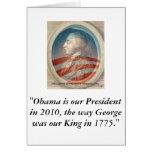 King George Obama III Greeting Card