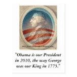 King George Obama III Post Card
