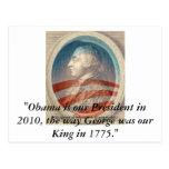 King George Obama III Post Cards