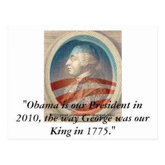 King George Obama III Postcard