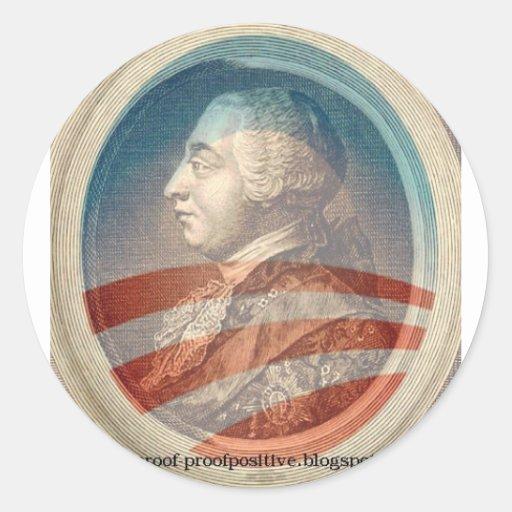 King George Obama III Round Stickers