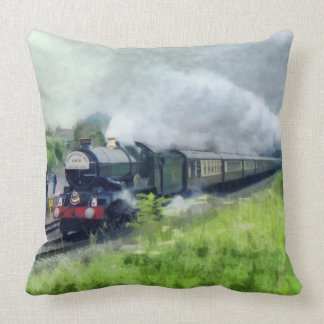 King George Steam Train Throw Pillow