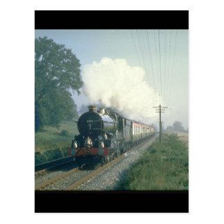 King George V works BR's return_Steam Trains Postcard
