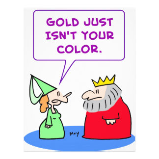 king gold isn't your color full color flyer