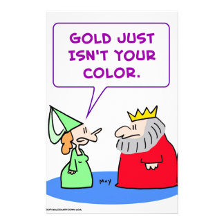 king gold isn't your color stationery design