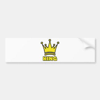 king golden crown icon car bumper sticker