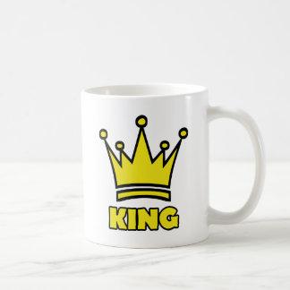 king golden crown icon coffee mug