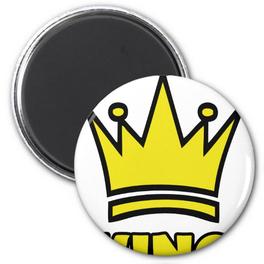 king golden crown icon magnet