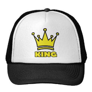 king golden crown icon trucker hat