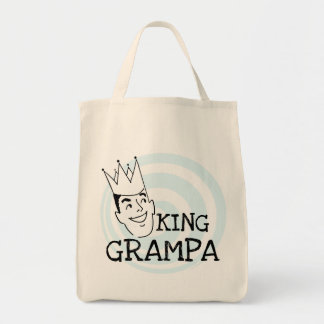 King Grampa T-shirts and Gifts Grocery Tote Bag