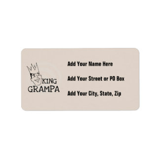 King Grampa T-shirts and Gifts Label