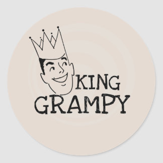 King Grampy Tshirts and Gifts Classic Round Sticker