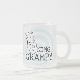 King Grampy Tshirts and Gifts Frosted Glass Coffee Mug