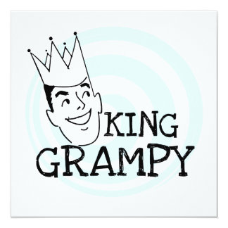 King Grampy Tshirts and Gifts 5.25x5.25 Square Paper Invitation Card