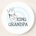 King Grandpa T-shirts and Gifts Drink Coasters