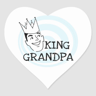 King Grandpa T-shirts and Gifts Heart Sticker