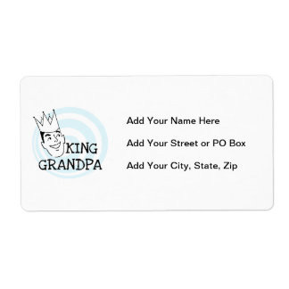 King Grandpa T-shirts and Gifts Personalized Shipping Labels