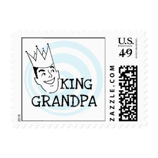 King Grandpa T-shirts and Gifts Stamp