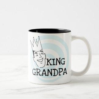 King Grandpa T-shirts and Gifts Two-Tone Coffee Mug