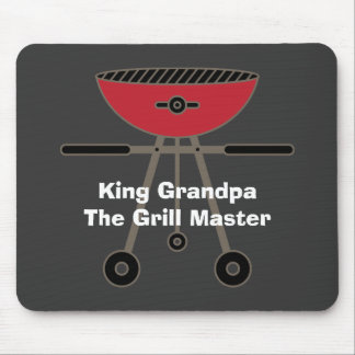 King Grandpa The Grill Master Mouse Pad