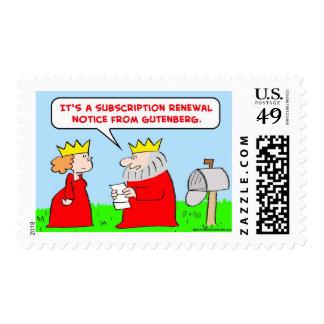 king gutenberg bible postage stamps