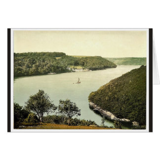 King Harry Passage, near Falmouth, Cornwall, Engla Greeting Card
