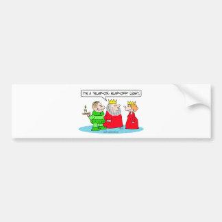 king has peasant for slap-on, slap-off light bumper sticker
