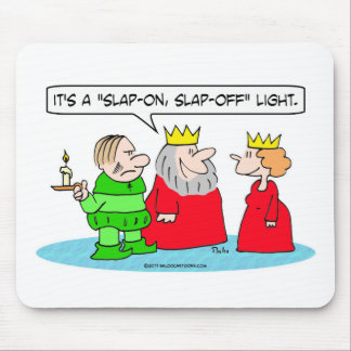 king has peasant for slap-on, slap-off light mouse pad
