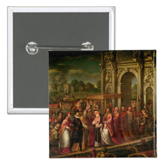 King Henri III  of France visiting Venice 2 Inch Square Button